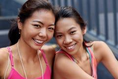Portrait asiatique d'amis Photographie stock