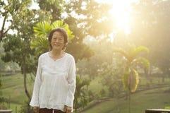 Portrait asiatique de femme d'aînés Photo stock