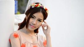 Portrait asiatique mignon de mannequin de femme banque de vidéos