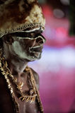 Portrait of the Asmat man royalty free stock photos