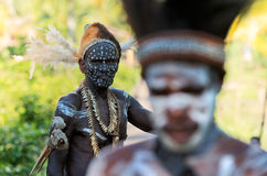 Portrait of the Asmat man Royalty Free Stock Photography