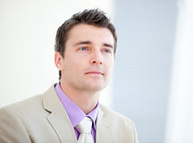 Portrait of an assertive businessman Royalty Free Stock Photos