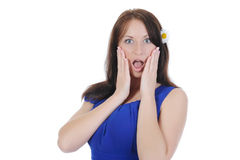 Portrait of the astonished girl. Royalty Free Stock Photography