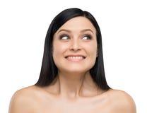 A portrait of astonishing brunette. Stock Photography