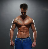 Portrait of the athlete Royalty Free Stock Images