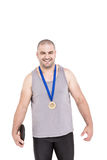 Portrait of athlete winning gold medal Royalty Free Stock Images