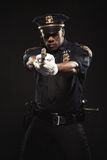 Portrait of an athletic african american man. Policeman Royalty Free Stock Photography