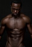 Atheletic African American Man Topless Royalty Free Stock Photo