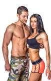 Portrait of athletic couple Stock Images