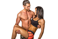 Portrait of athletic couple Royalty Free Stock Photography