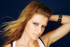 Portrait of an atractive young rocker girl Stock Photos