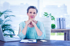 Portrait of an attentive businesswoman Royalty Free Stock Image