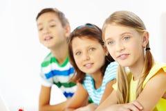 Attentive schoolgirl Royalty Free Stock Photos