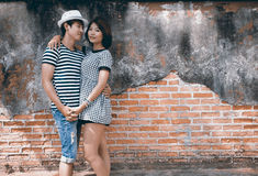 Portrait of attractive asian couple Stock Images