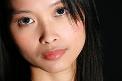 Portrait of attractive Asian woman. Close-up of attractive Asian woman stock photos