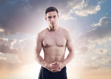 Portrait of an attractive athlete male sportsman Stock Photo