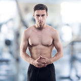 Portrait of an attractive athlete male trainer Stock Photo