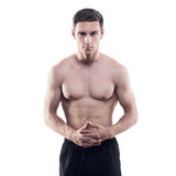 Portrait of an attractive athlete sportsman Stock Images