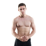 Portrait of an attractive athlete sportsman Royalty Free Stock Photo