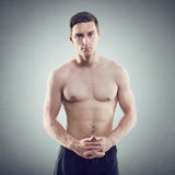 Portrait of an attractive athlete sportsman Royalty Free Stock Images