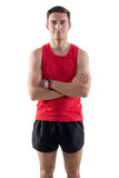 Portrait of an attractive athlete sportsman in Royalty Free Stock Image