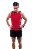 Portrait of an attractive athlete sportsman in Stock Images