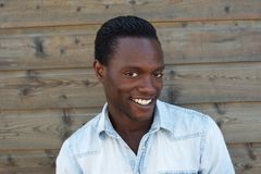 Portrait of an attractive black man smiling Stock Photo