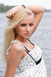 Portrait of attractive blond girl Royalty Free Stock Photography