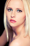 Portrait of attractive blond hair woman. Retouched Stock Images