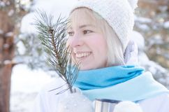 Portrait of an attractive blond smiling girl Stock Image