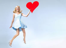 Portrait of an attractive blond valentine Royalty Free Stock Photography