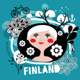 Portrait of attractive blond woman from Finland. Stock Photos