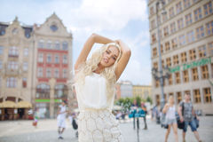 Portrait of the attractive blonde Royalty Free Stock Images