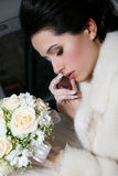 Portrait of an attractive bride Royalty Free Stock Photos