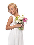 Portrait of an attractive bride royalty free stock photography