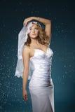 Portrait of attractive bride stock photography