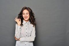 Portrait of attractive brunette businesswoman Stock Image