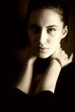 Portrait of attractive brunette girl Stock Photos