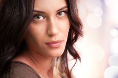 Portrait of attractive brunette girl royalty free stock image