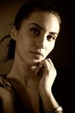 Portrait of attractive brunette girl Stock Image