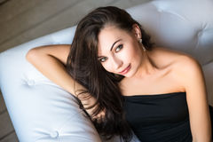Portrait of attractive brunette Royalty Free Stock Photo