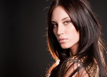 Portrait of attractive brunette sexy girl Royalty Free Stock Images