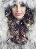 Portrait of an attractive brunette woman Stock Photos