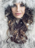 Portrait of an attractive brunette woman. Portrait of an attractive brunette lady Stock Photos