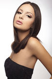 Portrait of an attractive brunette young lady Royalty Free Stock Photo