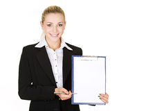 Portrait  attractive business woman Stock Photo