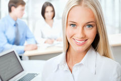 Portrait of attractive business woman Stock Image
