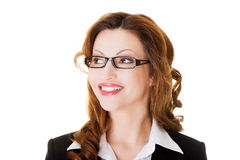 Portrait of attractive business woman in eye glasses. Stock Photography