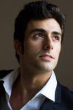 Portrait of attractive businessman. Portrait of attractive young businessman thinking Stock Photo