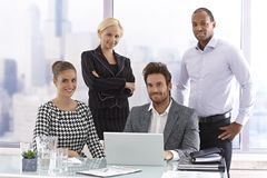 Portrait of attractive businesspeople Royalty Free Stock Images